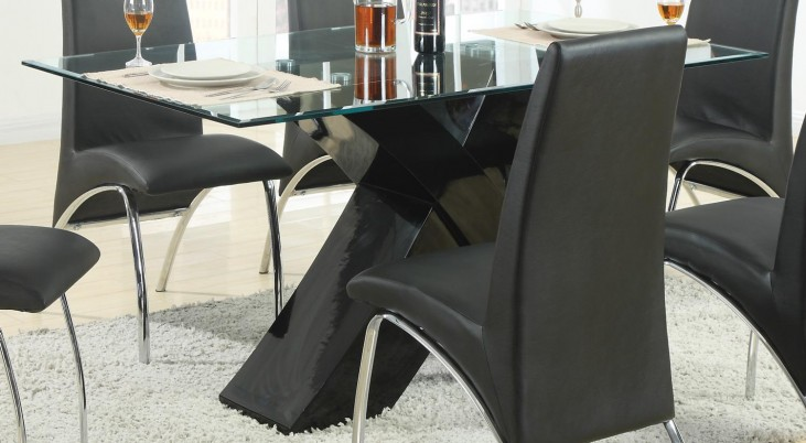 Ophelia Black Dining Table