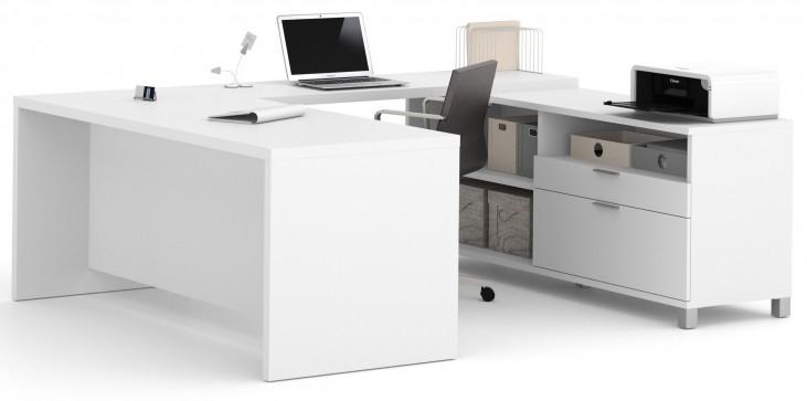 Pro-Linea White U-Desk