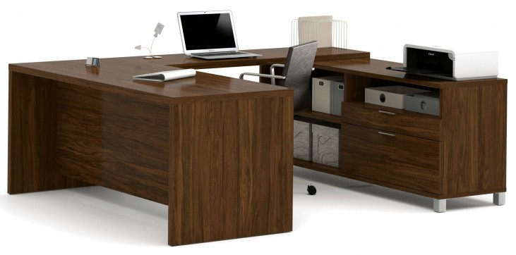 Pro-Linea Oak Barrel U-Desk
