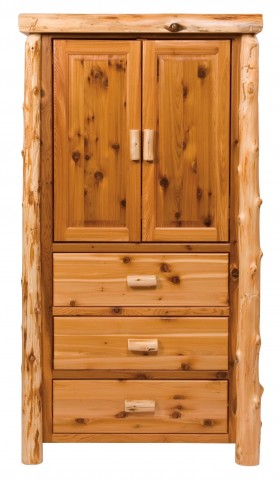 Traditional Cedar Value Three Drawer Armoire