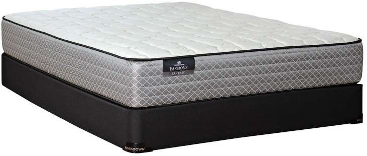 Passions Fantasy Firm Twin Mattress With Low Profile Foundation