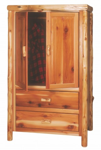 Cedar 2 Drawer Value Wardrobe With Hanging Rod