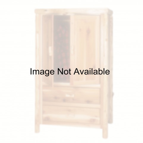 Vintage Cedar 2 Drawer Premium Wardrobe With Hanging Rod