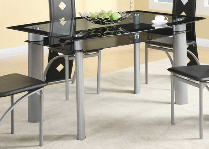Fontana Silver Metal Dining Table