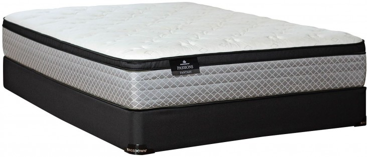 Passions Fantasy Euro Top Full Mattress With Low Profile Foundation