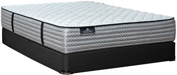 Passions Imagination Firm King Mattress With Low Profile Foundation