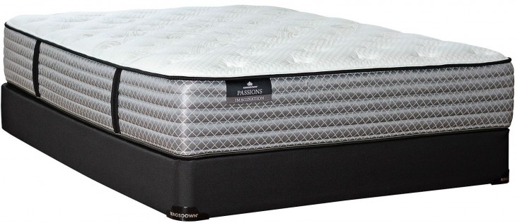 Passions Imagination Plush Queen Mattress With Low Profile Foundation