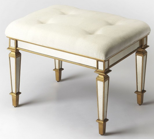 Celeste Mirror & Gold Vanity Stool