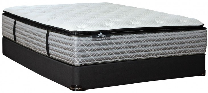 Passions Imagination Pillow Top Twin Extra Long Mattress With Low Profile Foundation