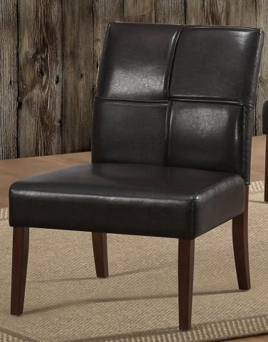Oriana Dark Brown Accent Chair