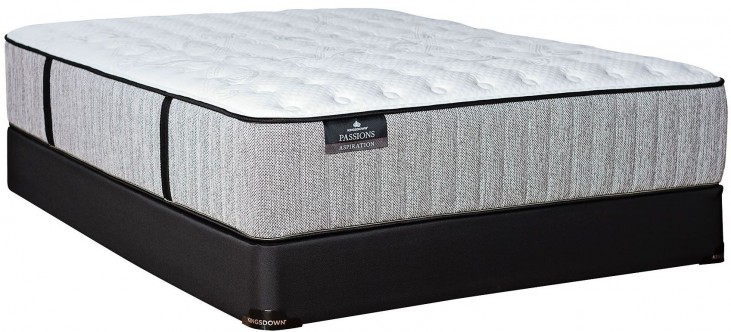 Passions Aspiration Firm Twin Extra Long Mattress With Low Profile Foundation
