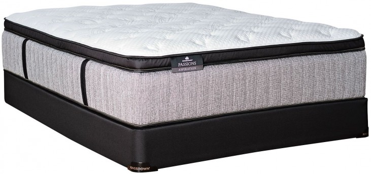 Passions Aspiration Pillow Top Full Extra Long Mattress With Low Profile Foundation