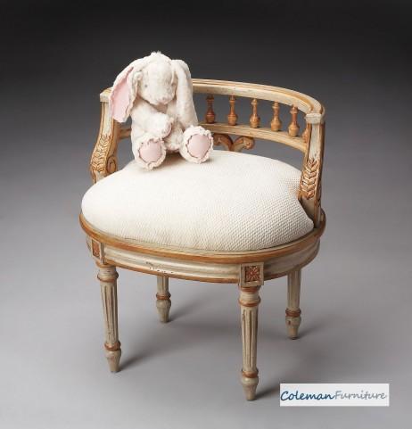 Cream & Gold Vanity Seat