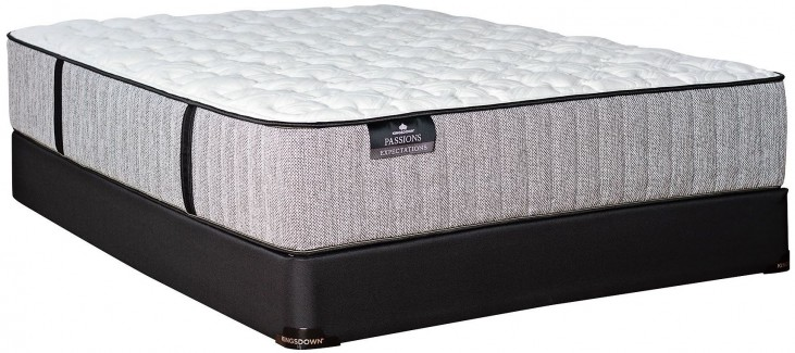 Passions Expectations Firm Twin Mattress With Low Profile Foundation