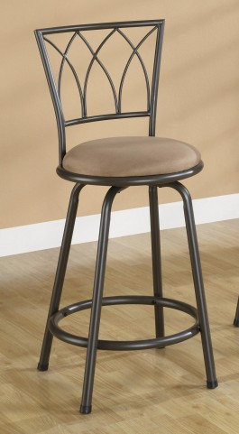 "Brown 24"" Barstool 122019 Set of 2"