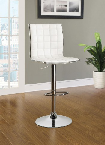 Waffle White Bar Stool Set of 2
