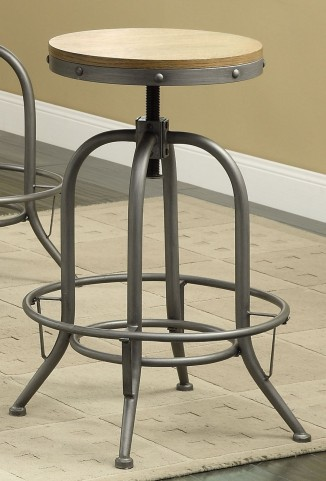 Modern Antique Black Adjustable Bar Stool Set of 2