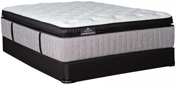 Passions Expectations Pillow Top Twin Extra Long Mattress With Low Profile Foundation