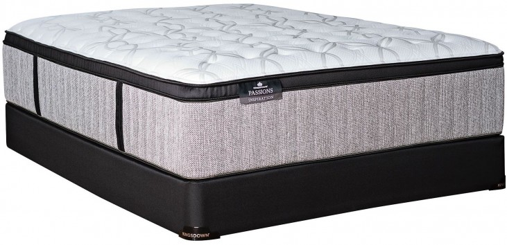 Passions Inspiration Firm Euro Top Twin Extra Long Mattress With Low Profile Foundation