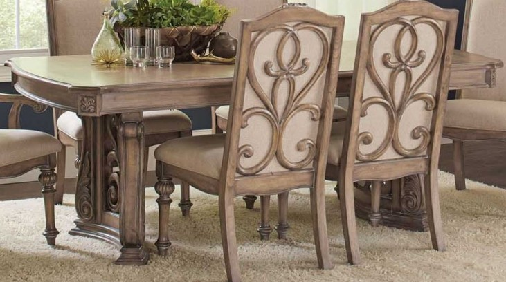 Ilana Antique Linen Dining Table