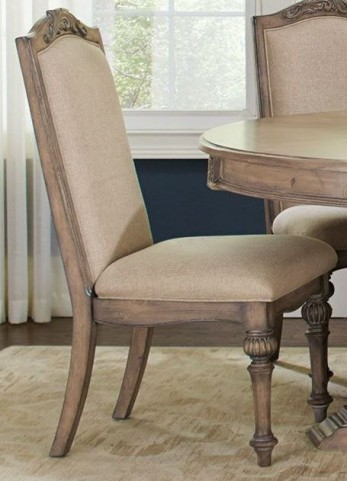 Ilana Cream and Antique Linen Side Chair Set of 2