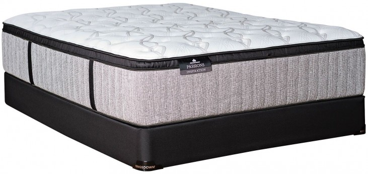 Passions Inspiration Plush Euro Top Queen Mattress With Low Profile Foundation