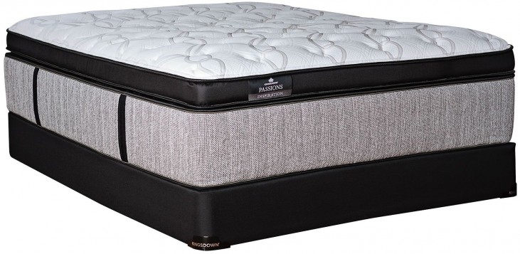 Passions Inspiration Ultra Plush Euro Top Cal. King Mattress With Low Profile Foundation