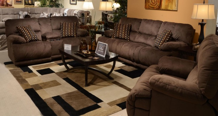 Riley Coffee Reclining Living Room Set