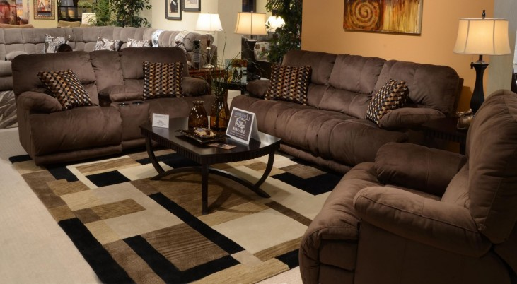 Riley Coffee Power Reclining Living Room Set