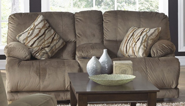 Riley Musk Power Reclining Loveseat with Console