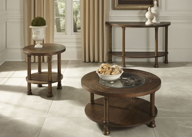 Clockworks Antique Coffee Occasional Table Set