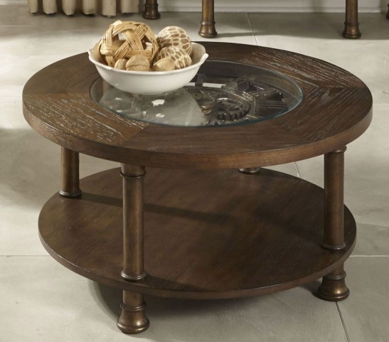 Clockworks Antique Coffee Cocktail Table