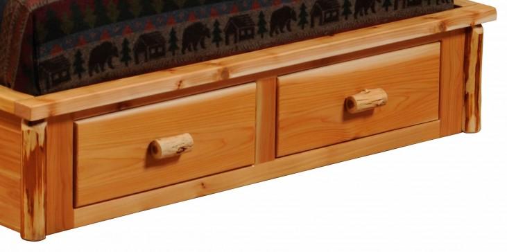 Cedar 2 Drawer Footboard Dresser for Full Platform Bed