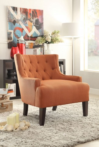 Dulce Orange Accent Chair