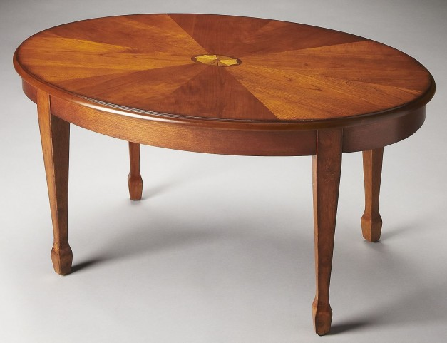 Clayton Plantation Cherry Olive Ash Burl Cocktail Table