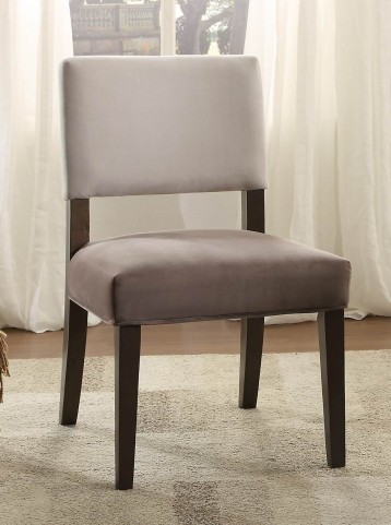 Alta Grey Tone Fabric Accent Chair Set of 2