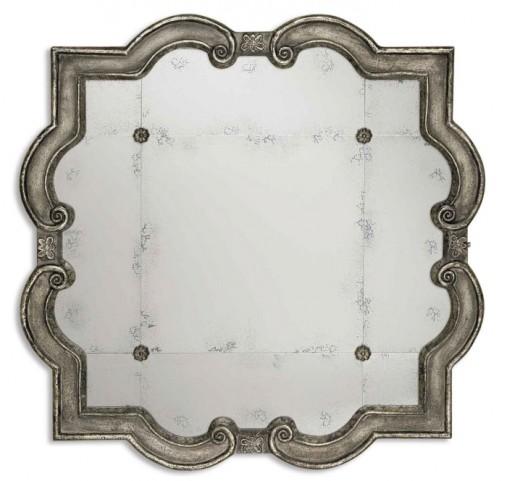 Prisca Distressed Silver Mirror Small