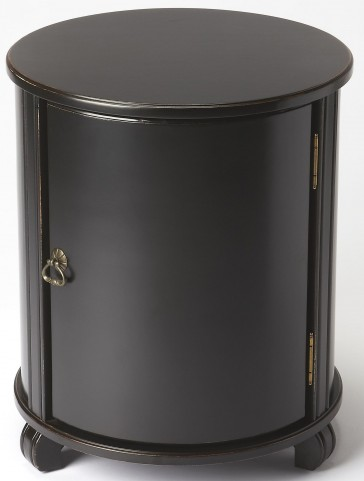 Lawrie Black Licorice Drum Table