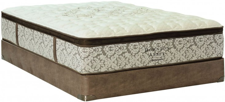 Downton Abbey Edwardian Lace V Pillow Top King Mattress With Foundation