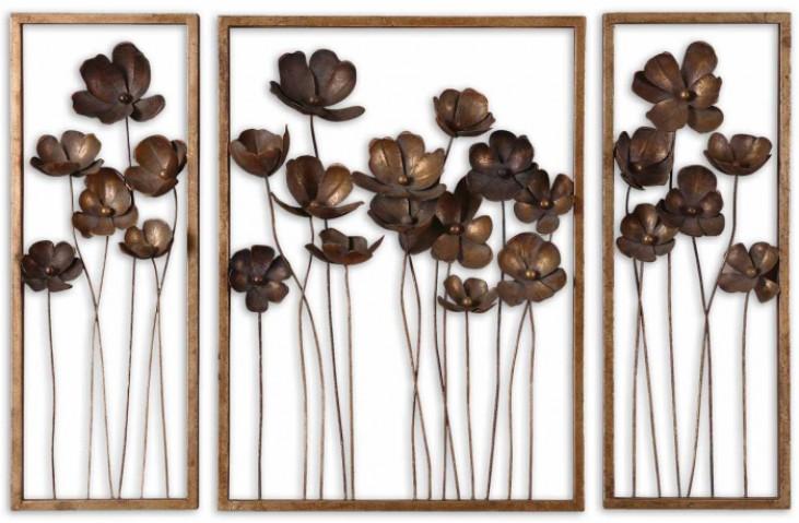 Metal Tulips Wall Art Set of 3