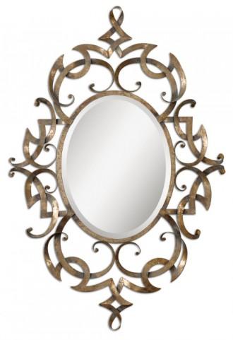 Ameno Antique Gold Mirror
