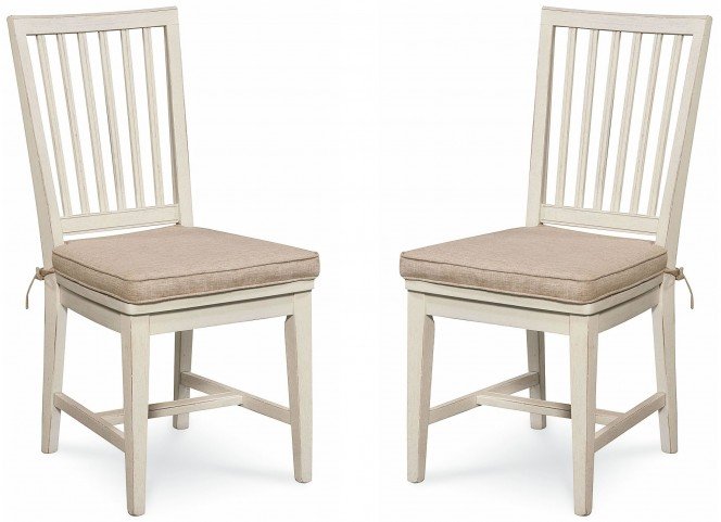 Great Rooms Washed Linen Side Chair Set of 2