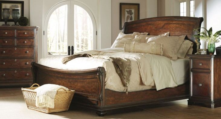 Portfolio Continental Barrel Sleigh Bedroom Set