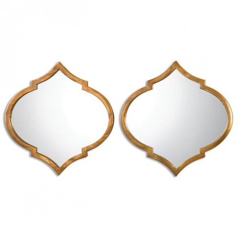 Jebel Antique Gold Mirrors Set of 2