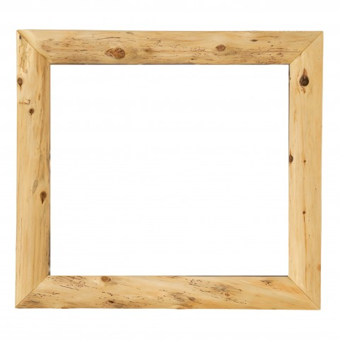 "Cedar Mitered 48"" Corner Mirror Without Glass"