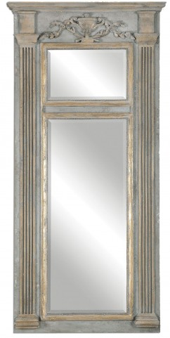 Sella Stately Weathered Gray Mirror