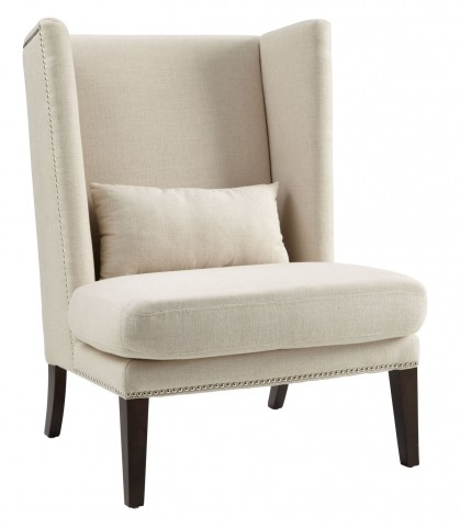 Malibu Linen Fabric Wing Chair