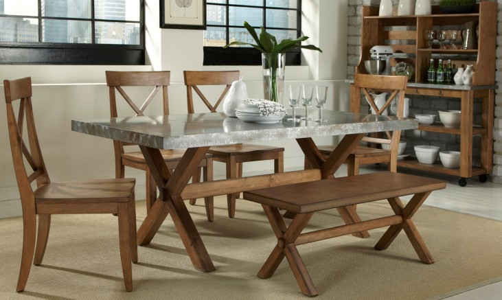 Keaton Trestle Dining Room Set