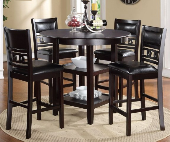 Gia Ebony 5pc Counter Table Set