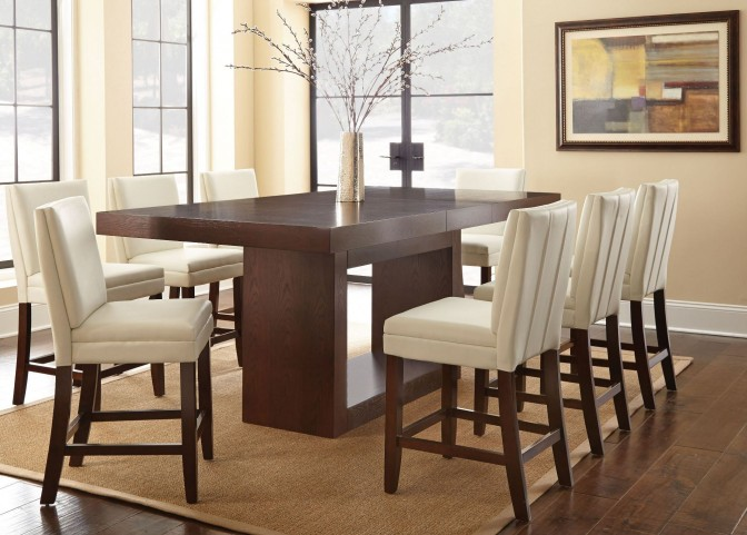 Antonio Extendable Rectangular Counter Height Dining Room Set
